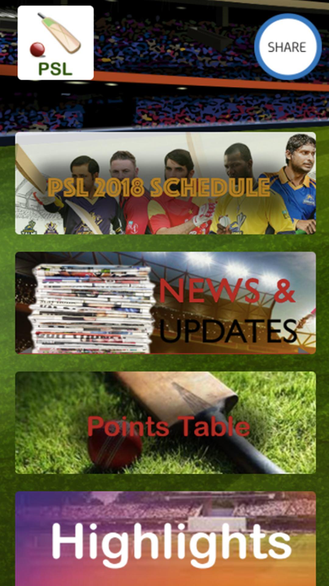 PSL Updates & Schedules poster