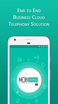 MOBtexting Pro-Cloud Telephony&Messaging, IVR, CRM постер