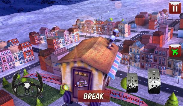 Christmas Flying Car games apk screenshot