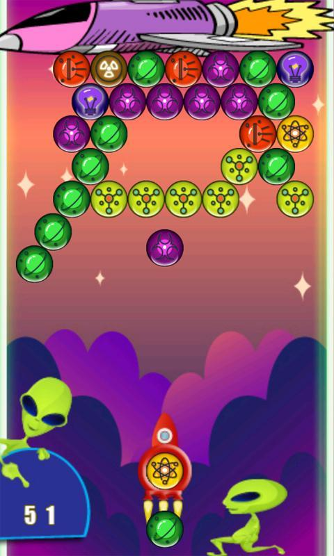 Justonit: space bubble shooter game free download for android.