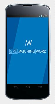 GRE Matching Word poster