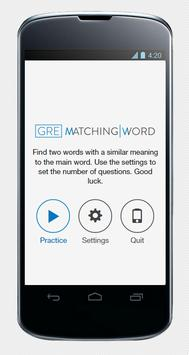 GRE Matching Word screenshot 1