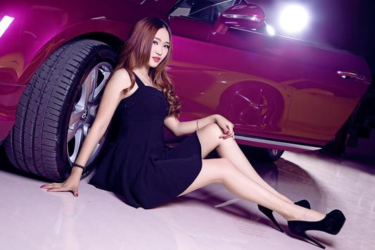Car And Girl Photos Wallpaper HD screenshot 4