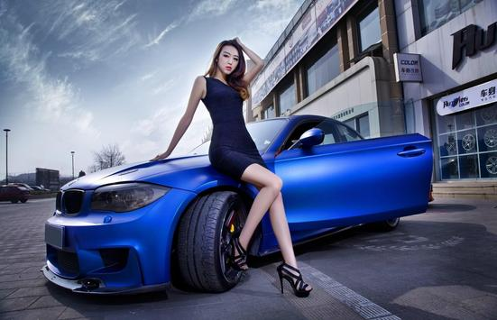Car And Girl Photos Wallpaper HD screenshot 3