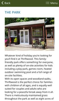 Thriftwood Holiday Park apk screenshot