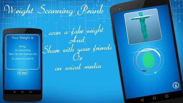 Weight Scanning Prank poster