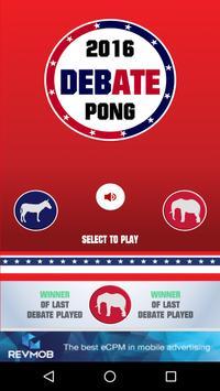 2016 Debate Pong. poster