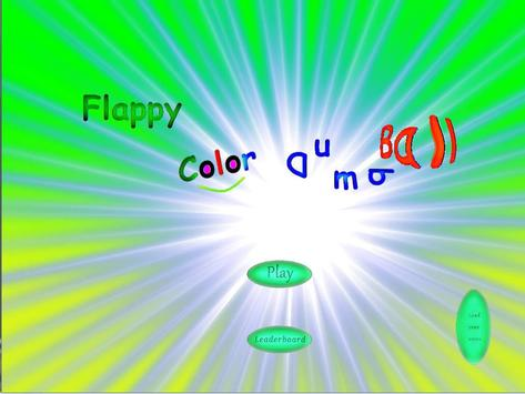 Flappy color Dumball poster