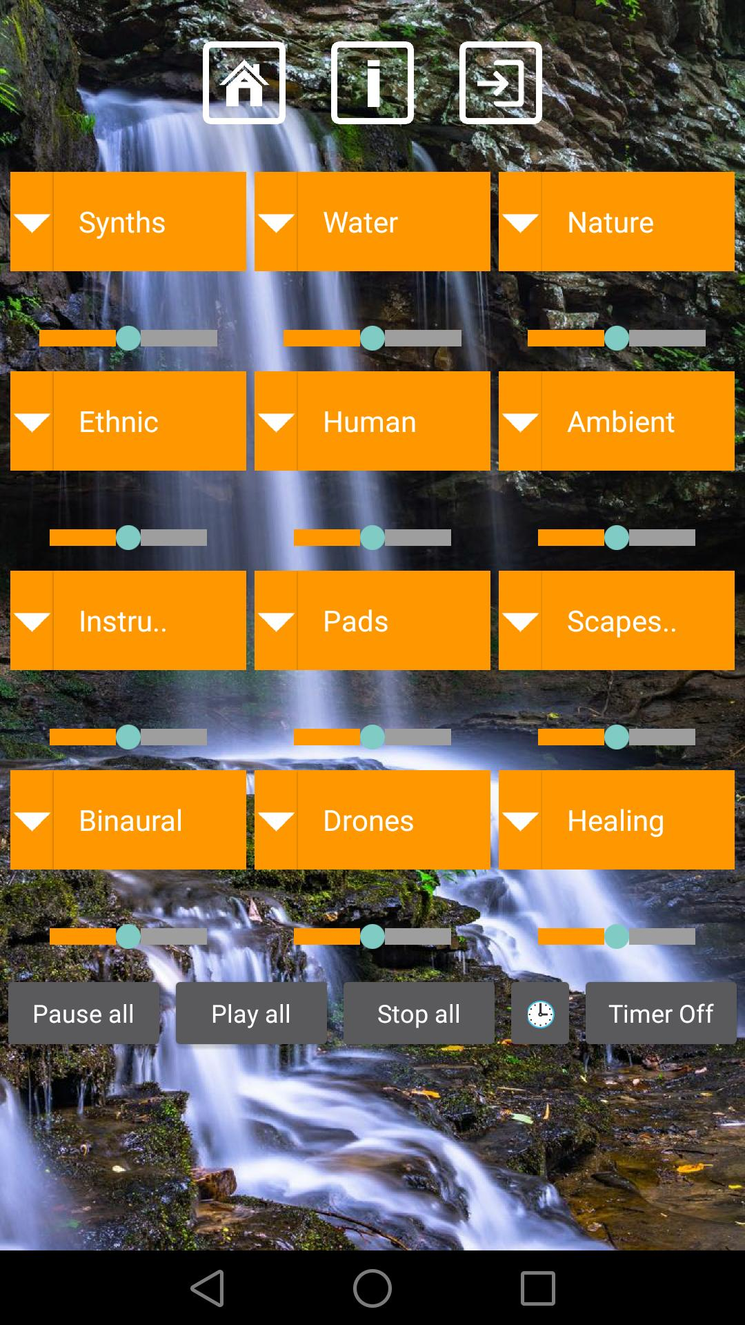 Relaxing Sounds Meditation Soundboard Mixer for Android