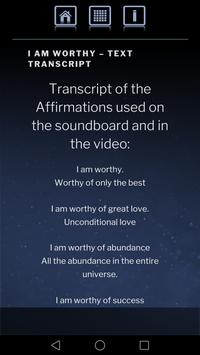 Self-Worth Healing Affirmations Soundboard screenshot 2