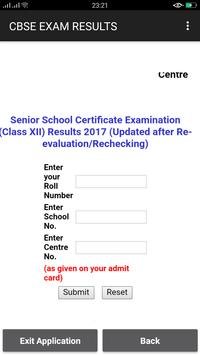 CBSE Exam Results screenshot 1