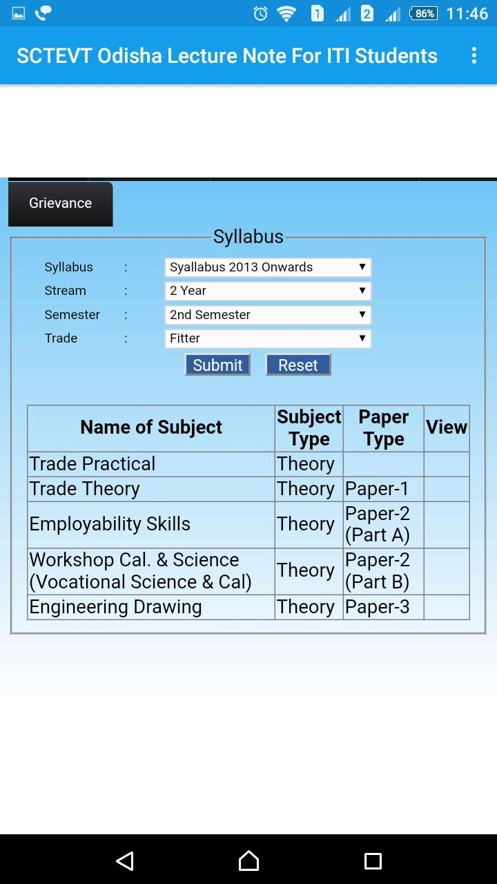 SCTEVT Odisha ITI Lecture Notes for Android - APK Download