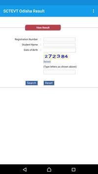 SCTEVT Odisha Results screenshot 1