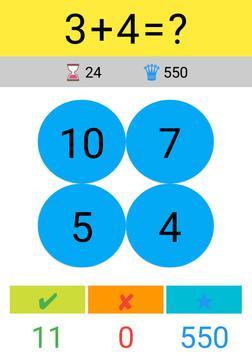 Toplama Çıkarma Çarpma Bölme / Matematik Oyunu screenshot 7