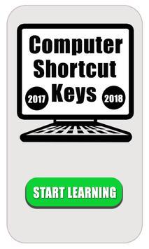 computer shortcut keyboard  2018 poster