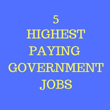 5 Highest paying government jobs in India apk screenshot