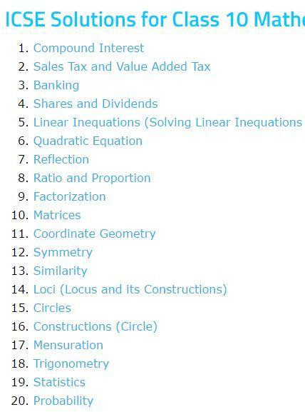 ICSE Class 10 Math Solutions for Android - APK Download