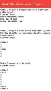 C Programming Questions screenshot 1