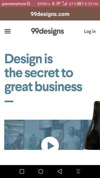 99designs.com screenshot 2
