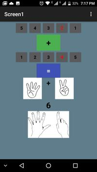 Learning Math with Fingers for kids ( sum) poster