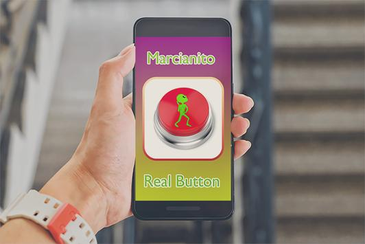 Marcianito 100% real BUTTON poster