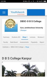 D B S COLLEGE poster