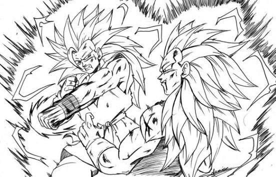 Coloring Pages Goku Series screenshot 5