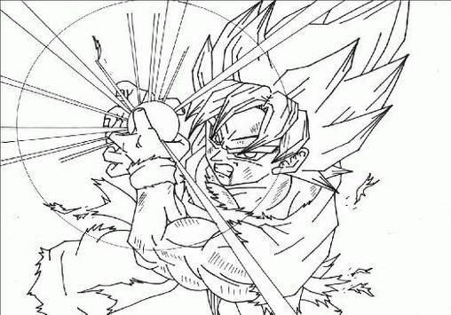 Coloring Pages Goku Series screenshot 3