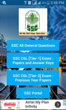 SSC Exam Questions poster