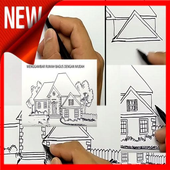 How to Draw a House icon