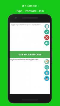 Portuguese Intrepreter (Translate and Speak) screenshot 2