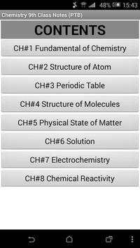 9th Class Chemistry Notes(Key Book)PTB poster
