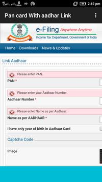 Link Aadhaar with Pan Card screenshot 4