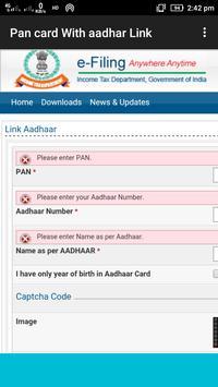 Link Aadhaar with Pan Card screenshot 1