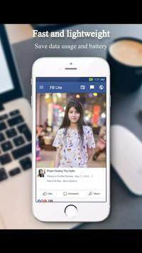 Online light facebook app poster
