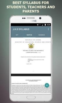 Ultimate JHS Syllabus - Ghana screenshot 1