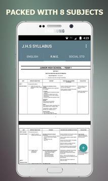 Ultimate JHS Syllabus - Ghana screenshot 2