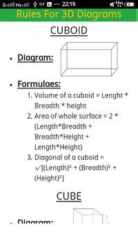 2D & 3D All Mensuration formulae poster