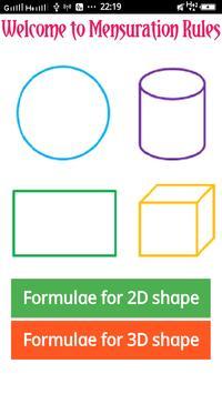 2D & 3D All Mensuration formulae screenshot 1