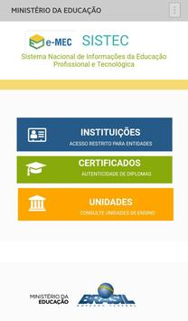 SISTEC - Certificados MEC poster