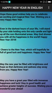 Happy New Year 2018 Hindi/English apk screenshot