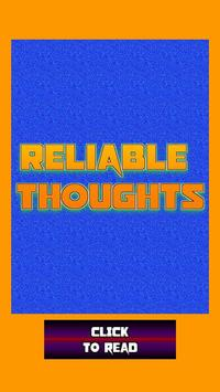 Reliable Thoughts poster