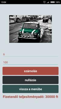 Autó átírás regadó kalkulátor'18 screenshot 5