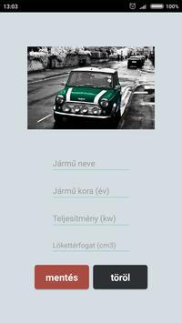 Autó átírás regadó kalkulátor'18 screenshot 2