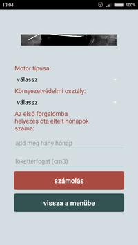 Autó átírás regadó kalkulátor'18 screenshot 3