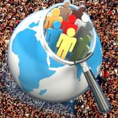 World live population count icon