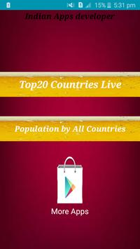 World live population count poster