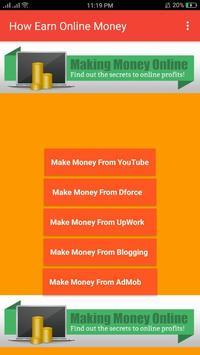How Earn Online Money apk screenshot