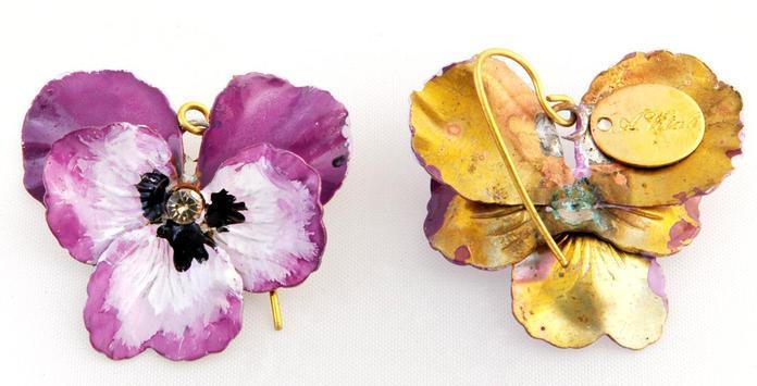 ANNARITA VITALI Earrings Orecchini Pendiente Viole screenshot 1