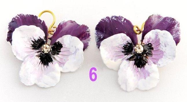 ANNARITA VITALI Earrings Orecchini Pendiente Viole screenshot 3